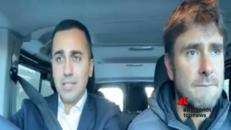 Di Maio e Di Battista in auto,