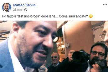 Test antidroga per Salvini