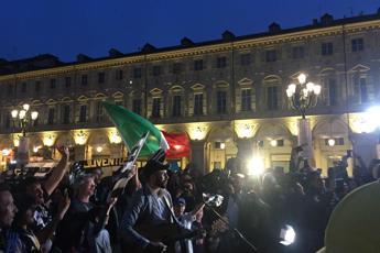 Festeggiamenti soft a piazza San Carlo