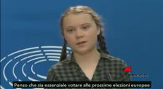 """L'appello di Greta per le europee: """"Votare è essenziale�"""