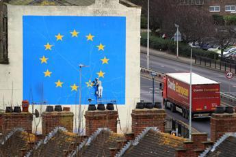 E' sparita la 'Brexit' di Banksy da Dover