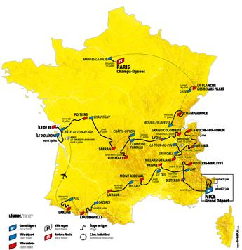 Ecco il Tour de France 2020, partenza (anticipata) da Nizza