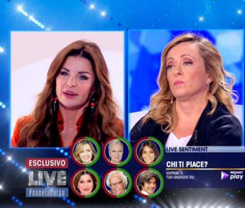 Giorgia Meloni vs Alba Parietti, scintille in tv