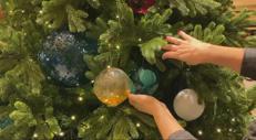 Si accende il Natale all'Hotel Eden di Roma con la maison Venini