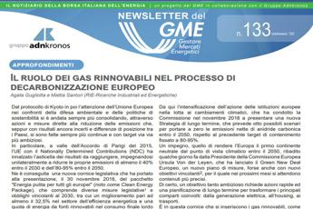 Energia, online la newsletter Gme