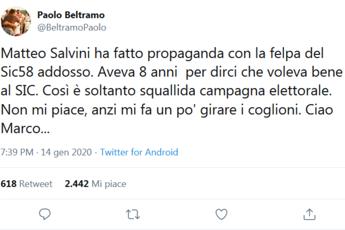 Salvini usa Simoncelli per fare propaganda