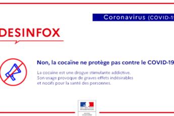 La cocaina non protegge dal coronavirus