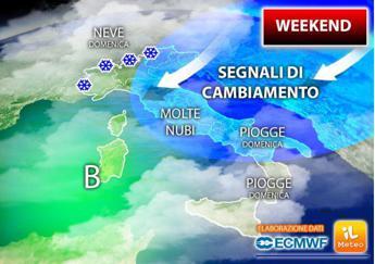 Torna il freddo, domenica neve dai 300 metri di altitudine