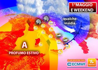 Meteo, temperature su e weekend caldo