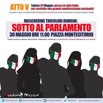 Fase 2: 'Mascherine Tricolori', domani in piazza in tutta Italia