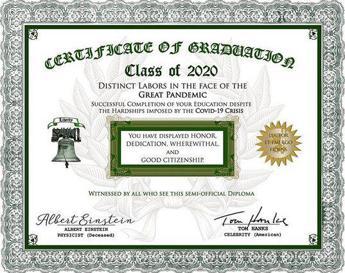 Tom Hanks: Ecco il mio diploma per gli eroi della laurea a distanza