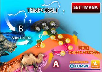 Meteo, estate al sud e temporali al nord