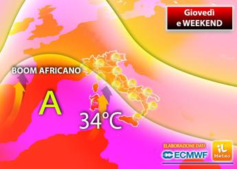 Meteo, temperature in salita e weekend rovente