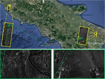 Spazio, Cosmo-SkyMed Csg sorprende, immagini simultanee di aree distanti km