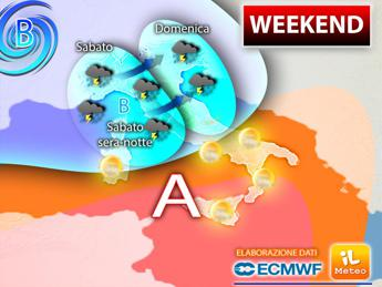 Meteo, weekend di temporali