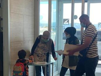 Libyan children arrive in Italy for surgery