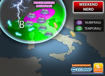 Meteo, weekend nero con temporali: ecco dove