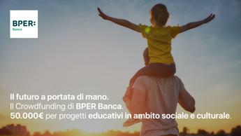 Bper, parte crowdfunding per progetti vincitori bando 'Il futuro a portata di mano'