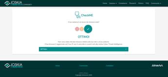 Cybersecurity, online e free CheckMe di Almaviva