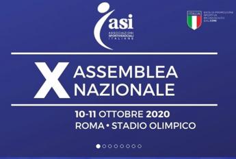Sabato 10 ottobre stadio Olimpico di Roma, la X Assemblea Nazionale Asi