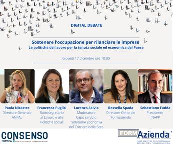 Formazienda e Consenso, digital debate sulle politiche attive del lavoro