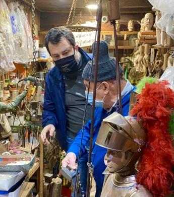 Palermo, Salvini incontra il 'puparo' Argento