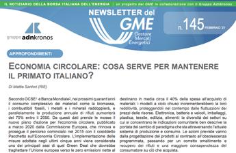 Energia, è online nuovo numero newsletter Gme