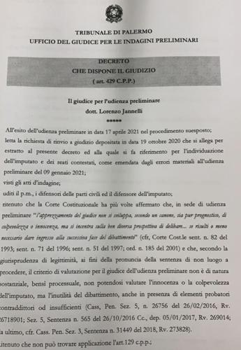 """Open Arms, il decreto del gup: """"Il processo a Salvini è necessario"""""""